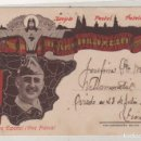 Sellos: TARJETA POSTAL PATIOTICA, FRANCO REINARE EN ESPAÑA. OVIEDO 27 JULIO 1937 GUERRA CIVIL. POESIA. Lote 155103098