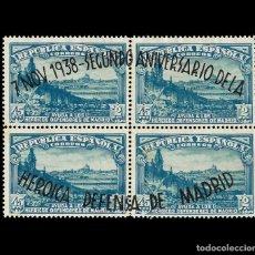 Sellos: SELLOS. ESPAÑA.II REPÚBLICA.1938.II ANIVERSARIO DEFENSA MADRID. 45C + P. AZUL. NUEVO* EDIFIL. Nº790. Lote 155412138