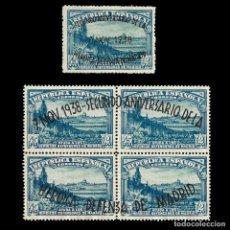 Sellos: SELLOS. ESPAÑA. II REPÚBLICA. 1938.II ANIVERSARIO DEFENSA MADRID. NUEVO* EDIFIL. Nº789-790. Lote 155413126