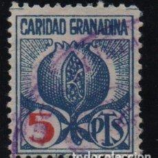 Selos: GRANADA, 5 PTAS, CARIDAD GRANADINA, VER FOTO. Lote 155453330