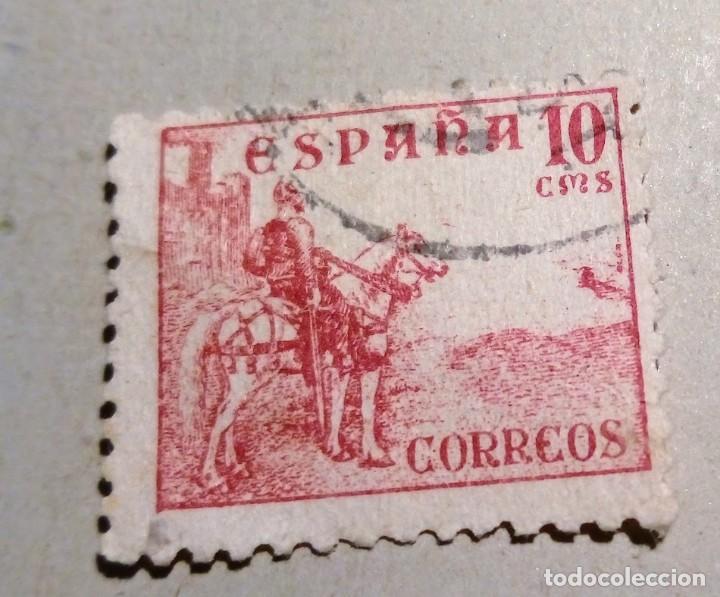 SELLO DE ESPAÑA 1937-1940 Nº 818, 10 C - EL CID (Sellos - España - Guerra Civil - De 1.936 a 1.939 - Usados)