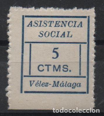 VELEZ-MALAGA, 5 CTS,--ASISTENCIA SOCIAL-- VER FOTO (Sellos - España - Guerra Civil - De 1.936 a 1.939 - Usados)