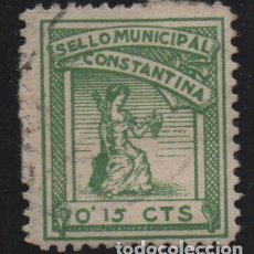 Sellos: CONSTANTINA, -SEVILLA- 15 CTS, SELLO MUNICIPAL, VER FOTO. Lote 155505578