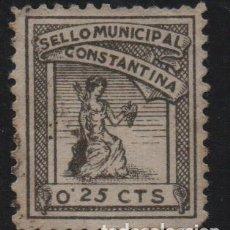 Sellos: CONSTANTINA, -SEVILLA- 25 CTS, SELLO MUNICIPAL, VER FOTO. Lote 155505650