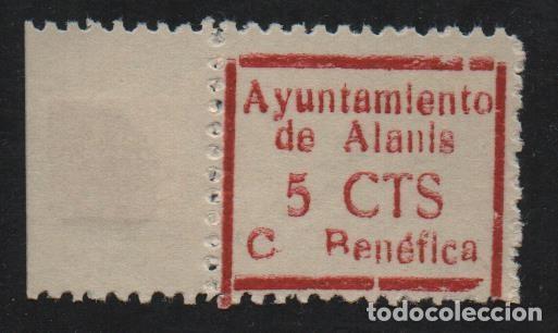 ALANIS. -SEVILLA- 5 CTS. -CUOTA BENEFICA- VER FOTO (Sellos - España - Guerra Civil - De 1.936 a 1.939 - Usados)