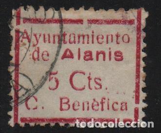 ALANIS. -SEVILLA- 5 CTS. VDAD. CTS -CUOTA BENEFICA- VER FOTO (Sellos - España - Guerra Civil - De 1.936 a 1.939 - Usados)