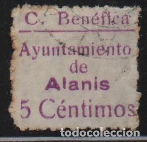 ALANIS. -SEVILLA- 5 CTS. VDAD.-CUOTA BENEFICA- VER FOTO (Sellos - España - Guerra Civil - De 1.936 a 1.939 - Usados)