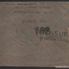 Sellos: CARTA DEL FRENTE SUR A PEGADAJAR-JAEN, -C.M., IX CUERPO EJERCITO, CENSOR 102, VER FOTOS. Lote 155759814