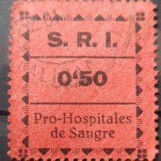 Sellos: GUERRA CIVIL SRI PRO HOSPITALES DE SANGRE. Lote 155818277