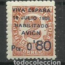 Sellos: CANARIAS 1936 HABILITADO AVION C/ FIJASELLO(CERTIFICADO). Lote 155931634