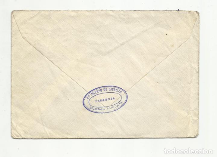 Sellos: circulada 1938 de 5 cuerpo ejercito zaragoza a chemnitz alemania con censura militar - Foto 2 - 155957694