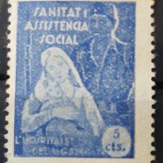 Sellos: GUERRA CIVIL VIÑETA SANITAT I ASSISTENCIA SOCIAL L HOSPITALET DEL LLOBREGAT. Lote 155964117