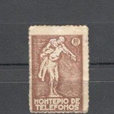 Sellos: VIÑETA, MONTEPIO DE TELEFONOS - 10 CTS. Lote 156248654