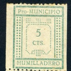 Sellos: ESPAÑA. GUERRA CIVIL. HUMILLADERO. EDIFIL Nº5+9 EN PAREJA CAPICÚA. Lote 156505650