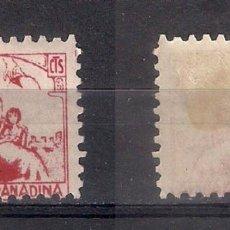 Sellos: ESPAÑA GUERRA CIVIL CARIDAD GRANADINA * NUEVO - 3/9. Lote 156586362