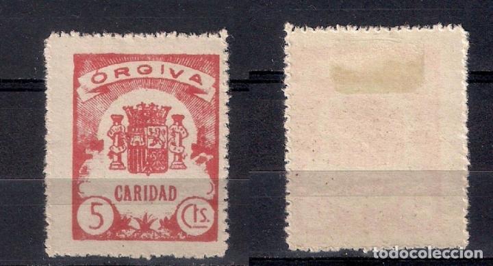 ESPAÑA GUERRA CIVIL ORGIVA CARIDAD * NUEVO - 3/9 (Sellos - España - Guerra Civil - Locales - Nuevos)
