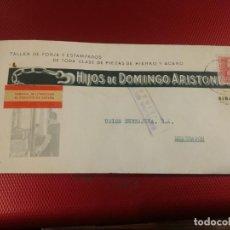 Sellos: HIJOS DE DOMINGO ARISTONDO. TALLER FORJA. FÁBRICA MILITARIZADA AL SERVICIO DE ESPAÑA. CENSURA EIBAR. Lote 156609262
