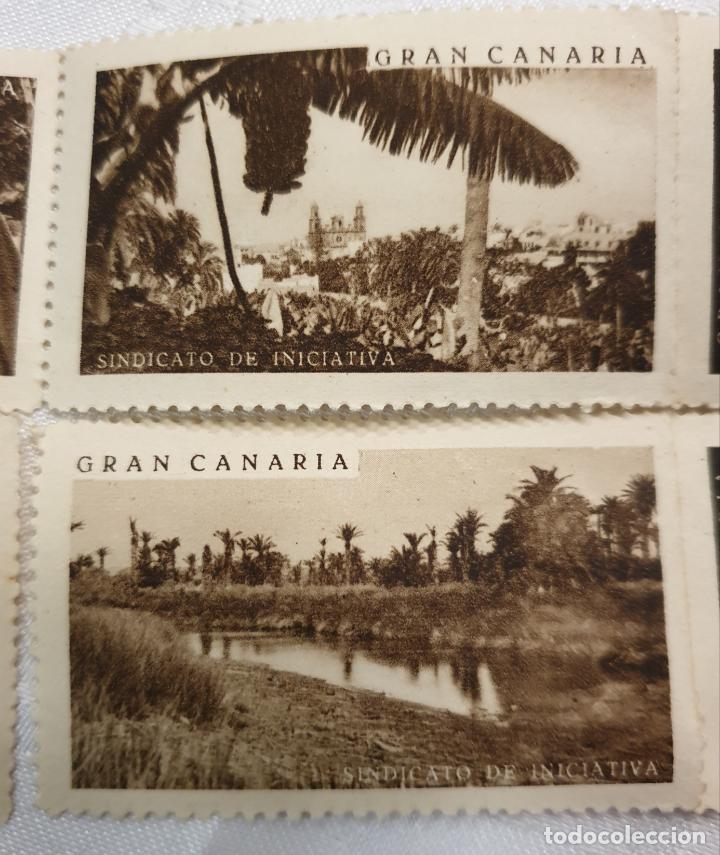 Sellos: CURIOSO LOTE DE SELLOS DE GRAN CANARIA,SINDICATO DE INICIATIVA,SIN MATASELLAR - Foto 3 - 156613658