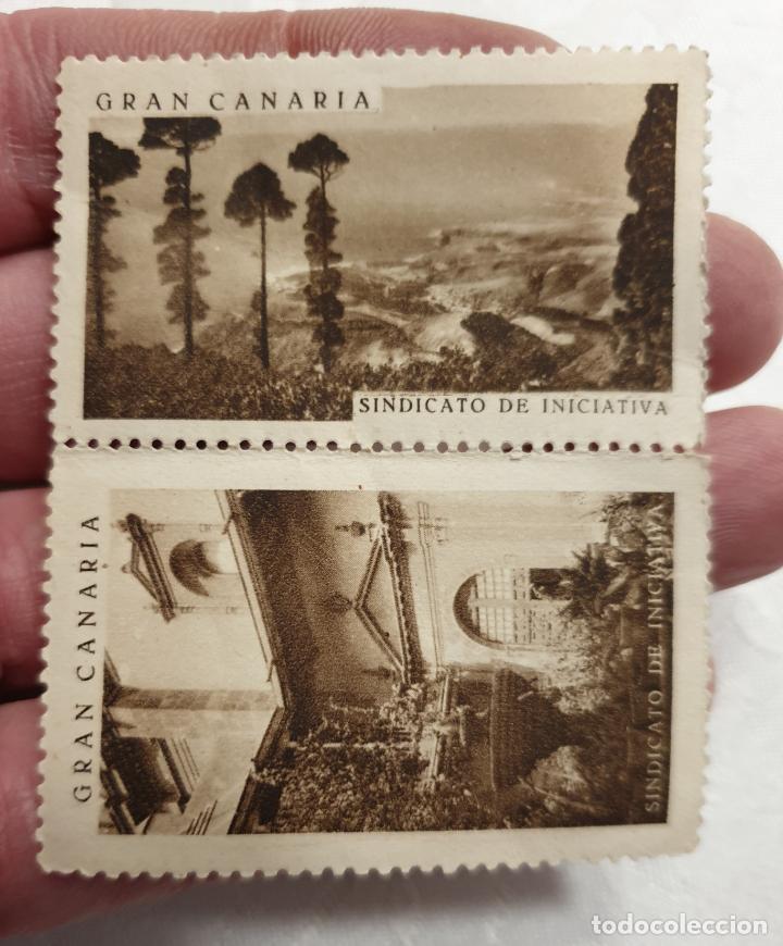 Sellos: CURIOSO LOTE DE SELLOS DE GRAN CANARIA,SINDICATO DE INICIATIVA,SIN MATASELLAR - Foto 10 - 156613658