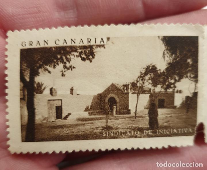 Sellos: CURIOSO LOTE DE SELLOS DE GRAN CANARIA,SINDICATO DE INICIATIVA,SIN MATASELLAR - Foto 11 - 156613658
