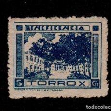 Sellos: A3-13 VIÑETA GUERRA CIVIL TORROX (MALAGA) FESOFI Nº 10 COLOR AZUL VALOR 5 CTS.. Lote 156653638