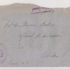 Stamps - SOBRE. TERUEL. FRANQUICIA CORREOS. CENSURA MILITAR - 156664686
