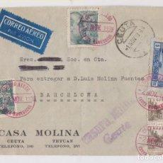 Sellos: SOBRE. DE CEUTA A BARCELONA. CENSURA MILITAR. 1938. Lote 156666130
