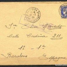 Sellos: GUERRA CIVIL POST, CARTA CIRCULADA DE FRANCIA A ESPAÑA, 1939. Lote 156672222