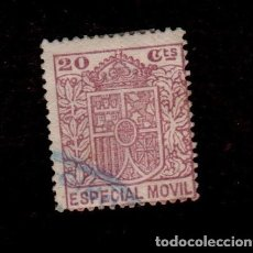 Sellos: F1-12 FISCAL ESPECIAL MOVIL VALOR 20 CTS. ROJO. Lote 156682426