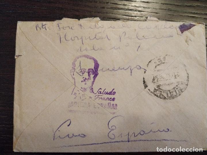 Sellos: 12/01/1939 GUERRA CIVIL GRUPO HOSPITALES MILITARES DE SIGÜENZA GUADALAJARA CENSURA MILITAR MELILLA - Foto 2 - 156754850