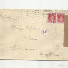 Francobolli: CIRCULADA 1937 DE GIRONA GERONA A INGLATERRA CON CENSURA REPUBLICANA. Lote 156943342