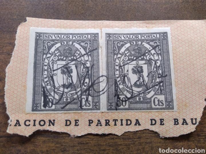 2 SELLOS MUTUAL DEL CLERO (Sellos - España - Guerra Civil - Beneficencia)