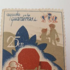 Sellos: GUERRA CIVIL VIÑETA AYUDA A GUARDERIAS DE SIA. Lote 156967777