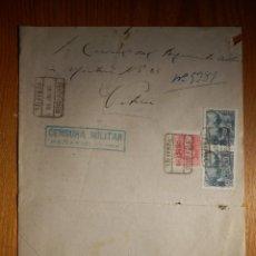 Sellos: CARTA - CESURA MILITAR - PEÑAFIEL - AÑO 1939. Lote 157141926