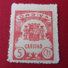 Sellos: ORGIVA. GRANADA. CARIDAD. 5 CÉNTIMOS. Lote 157211677