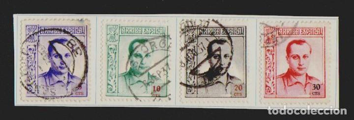 ESTADO ESPAÑOL.4 SELLOS DE JOSE ANTONIO PRIMO DE RIVERA.AÑO 1937.USADOS. (Sellos - España - Guerra Civil - De 1.936 a 1.939 - Usados)
