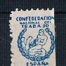 Sellos: GUERRA CIVIL SELLO COTIZACIÓN CONFEDERACION NACIONAL DEL TRABAJO * LOT007 CNT. Lote 157370858