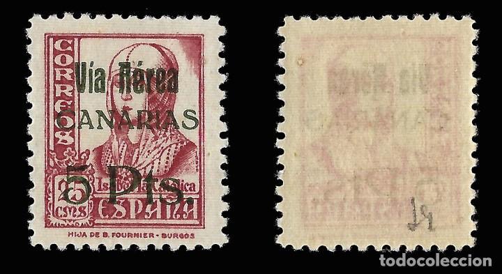 Sellos: Sellos. España.Canarias.1937.Sellos Republicanos Nacionales Habilitado.5 p s 25c. Nuevo** Edifil 48 - Foto 2 - 157494266