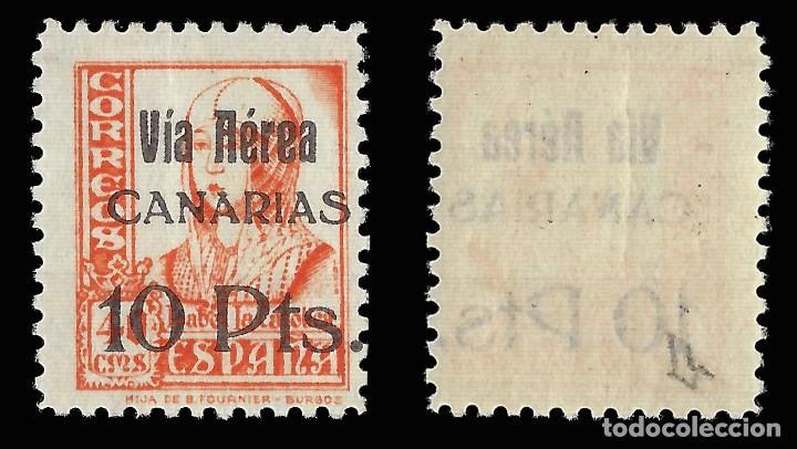 Sellos: Sellos. España. Canarias.1937.Sellos Republicanos Nacionales Habilitado.10 p s 40c. Nuevo** Edifi 49 - Foto 2 - 157496294
