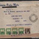 Sellos: CARTA DE PEAL DE BECERRO--JAEN-- A PERU, REPUBLICA.- VER FOTO. Lote 157675026