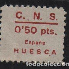 Sellos: HUESCA, 50 CTS. ROJO- C.N.S. VER FOTO. Lote 157676302