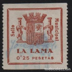 Sellos: LA LAMA, --PONTEVEDRA-- 25 CTS, -SELLO MUNICIPAL., VER FOTO. Lote 157676738