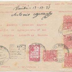 Sellos: GUERRA CIVIL. FRONTAL VALORES DECLARADOS DE ARAHAL A TETUAN. 1938. Lote 157728118