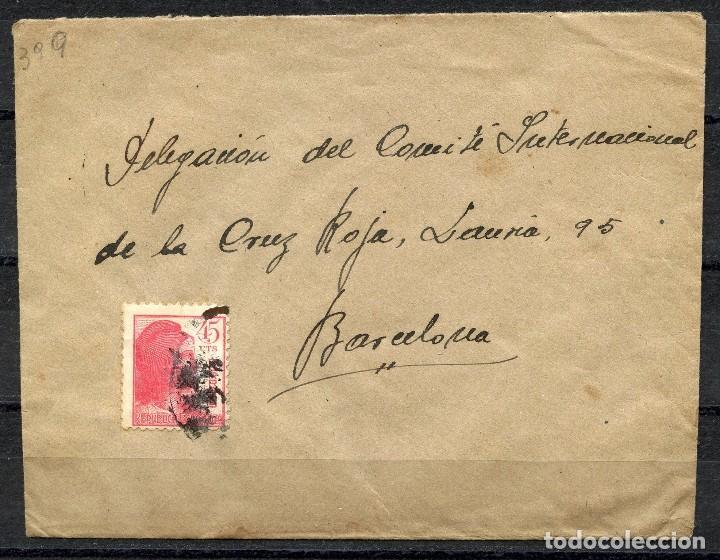 GUERRA CIVIL, SOBRE, EJERCITO REPUBLICANO, 28 DIVISIÓN, 125 BRIGADA MIXTA (Sellos - España - Guerra Civil - De 1.936 a 1.939 - Cartas)