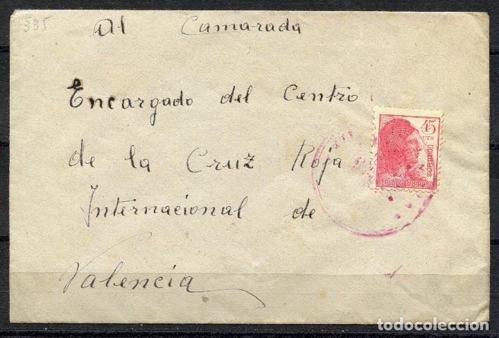 GUERRA CIVIL, SOBRE, EJERCITO REPUBLICANO, 49 DIVISIÓN, 221 BRIGADA MIXTA (Sellos - España - Guerra Civil - De 1.936 a 1.939 - Cartas)