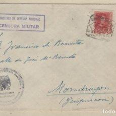 Sellos: SOBRE MINISTERIO DE DEFENSA NACIONAL CENSURA MILITAR. SECRETARÍA PARTICULAR. . Lote 158137998