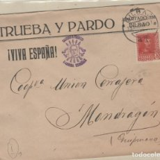 Sellos: SOBRE TRUEBA Y PARDO VIVA ESPAÑA, SALUDO A FRANCO. CRUZADA CONTRA EL FRIO.. Lote 158138606