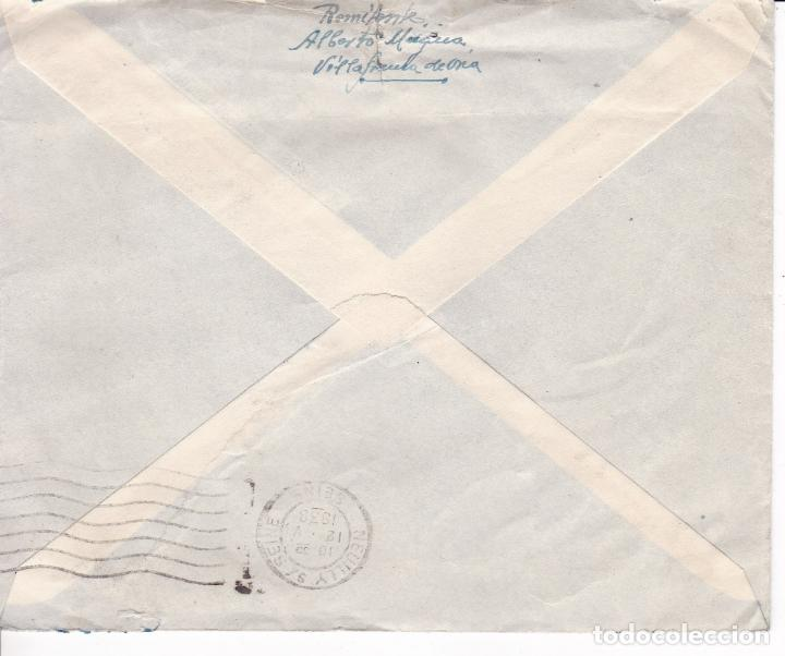 Sellos: HP9-17- Carta VILLAFRANCA de ORIA- PARIS 1938. Censura Villafranca e Irún - Foto 2 - 158183522