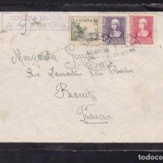 Sellos: CM2-10- CARTA ALEGRIA DE ORIA- FRANCIA 1939. CENSURA ALEGRIA DE ORIA . Lote 158184498
