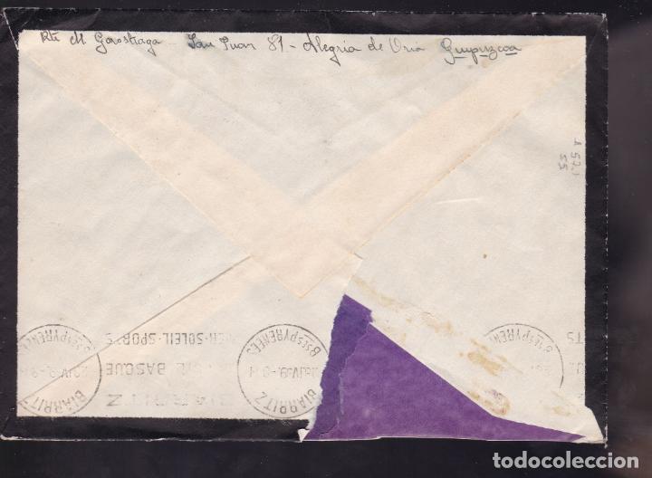 Sellos: CM2-10- Carta ALEGRIA de ORIA- FRANCIA 1939. Censura Alegria de Oria - Foto 2 - 158184498